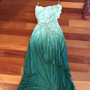 Ombré high-low dress
